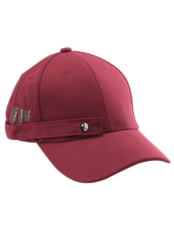 Online Tiny Eight Diagrams Rectangle Embellished Baseball Cap - WINE RED  Mobile