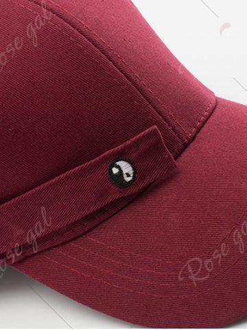 Discount Tiny Eight Diagrams Rectangle Embellished Baseball Cap - BLACK  Mobile