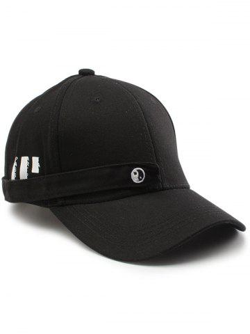 Online Tiny Eight Diagrams Rectangle Embellished Baseball Cap BLACK