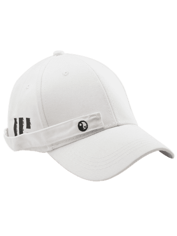 Cheap Tiny Eight Diagrams Rectangle Embellished Baseball Cap - WHITE  Mobile