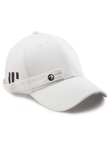 Buy Tiny Eight Diagrams Rectangle Embellished Baseball Cap - WHITE  Mobile