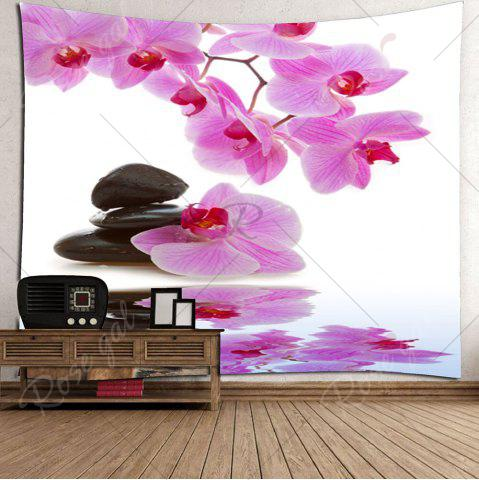 Discount Wall Hanging Pond Floral Printed Tapestry - W79 INCH * L59 INCH LIGHT PINK Mobile