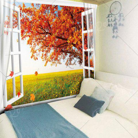 Discount Maple Tree Printed Wall Hanging Tapestry - W79 INCH * L59 INCH MAPLE LEAF Mobile