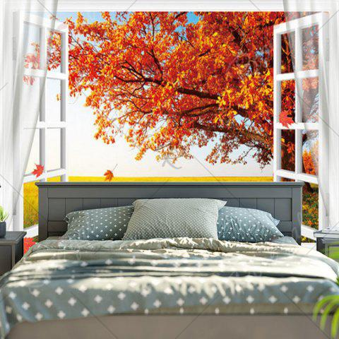 Outfits Maple Tree Printed Wall Hanging Tapestry - W79 INCH * L59 INCH MAPLE LEAF Mobile