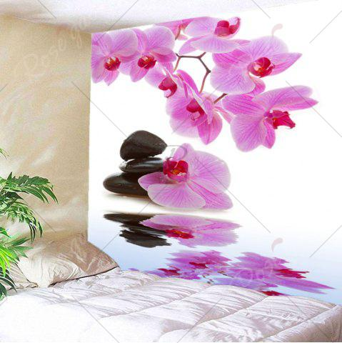 Best Wall Hanging Pond Floral Printed Tapestry - W79 INCH * L59 INCH LIGHT PINK Mobile