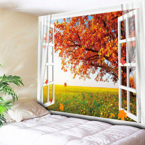Best Maple Tree Printed Wall Hanging Tapestry - W79 INCH * L59 INCH MAPLE LEAF Mobile