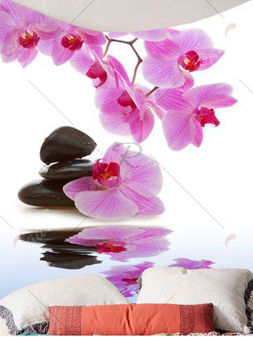 Trendy Wall Hanging Pond Floral Printed Tapestry - W71 INCH * L71 INCH LIGHT PINK Mobile
