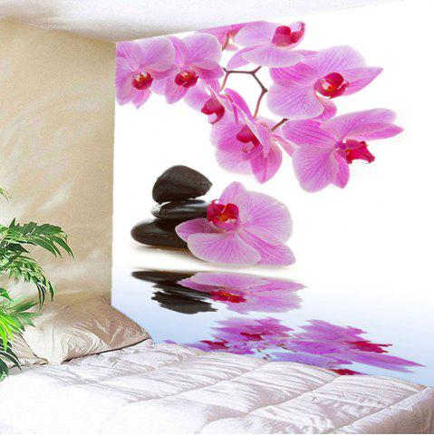 Buy Wall Hanging Pond Floral Printed Tapestry - W79 INCH * L71 INCH LIGHT PINK Mobile