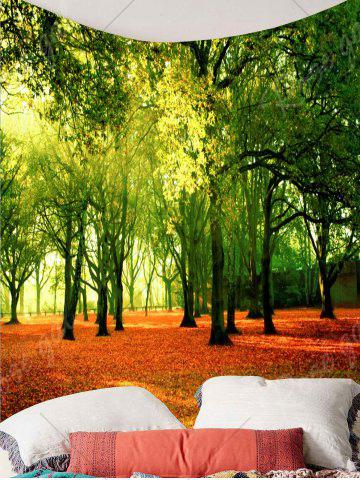 Affordable Hanging Fallen Leaves Trees Wall Decor Tapestry - W59 INCH * L51 INCH GREEN Mobile