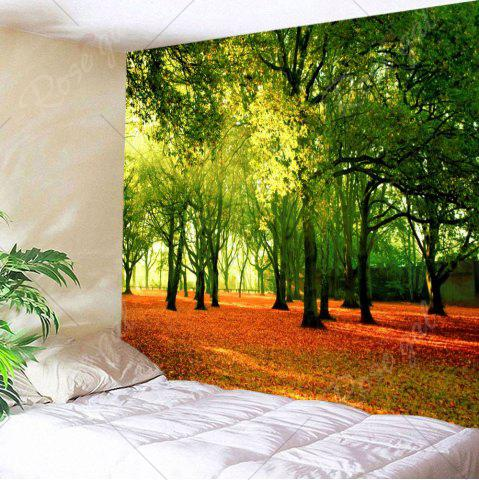 Affordable Hanging Fallen Leaves Trees Wall Decor Tapestry - W59 INCH * L59 INCH GREEN Mobile