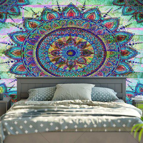 Affordable Bohemian Mandala Brick Wall Print Tapestry - W59 INCH * L51 INCH COLORMIX Mobile