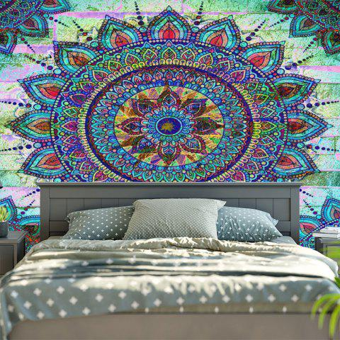 Sale Bohemian Mandala Brick Wall Print Tapestry - W79 INCH * L59 INCH COLORMIX Mobile