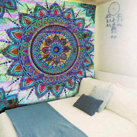 Buy Bohemian Mandala Brick Wall Print Tapestry - W79 INCH * L59 INCH COLORMIX Mobile