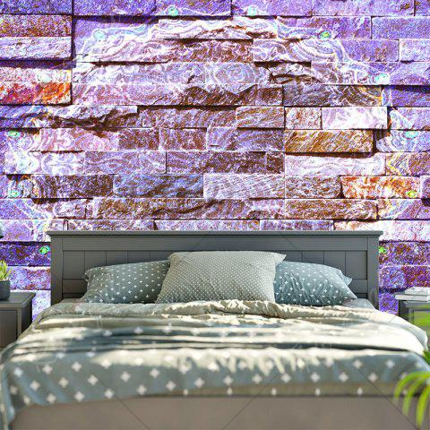 Latest Novelty Brick Wall Bedroom Tapestry - W59 INCH * L51 INCH PURPLE Mobile