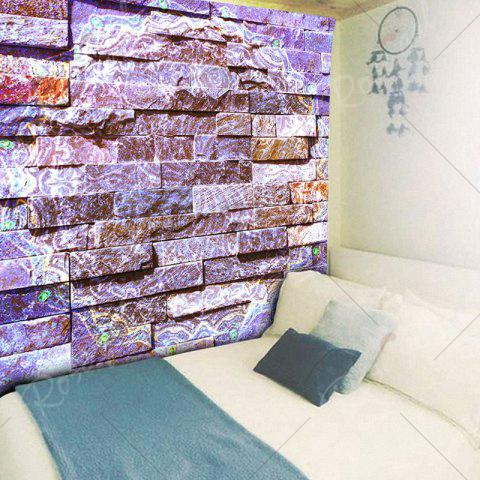 Chic Novelty Brick Wall Bedroom Tapestry - W59 INCH * L51 INCH PURPLE Mobile