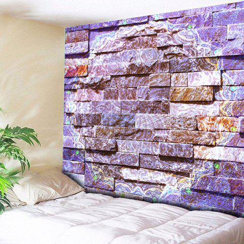 Fancy Novelty Brick Wall Bedroom Tapestry - W79 INCH * L59 INCH PURPLE Mobile