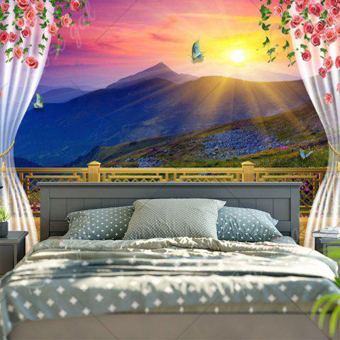 Online Balcony Valley Print Wall Decor Tapestry - W59 INCH * L51 INCH COLORFUL Mobile