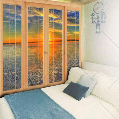 Sale Wall Hanging Window Sea Print Tapestry - W59 INCH * L59 INCH COLORMIX Mobile