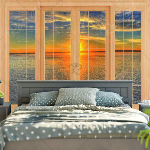 Discount Wall Hanging Window Sea Print Tapestry - W79 INCH * L59 INCH COLORMIX Mobile