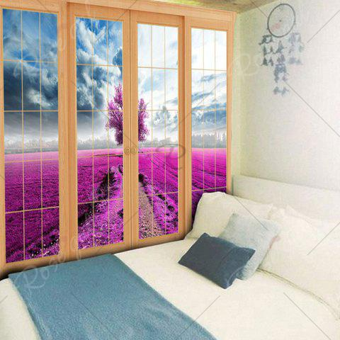 Trendy Wall Hanging Window Scenery Printed Tapestry - W79 INCH * L59 INCH PURPLISH RED Mobile