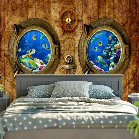Discount Submarine Wood Grain Wall Art Tapestry - W59 INCH * L59 INCH WOOD COLOR Mobile