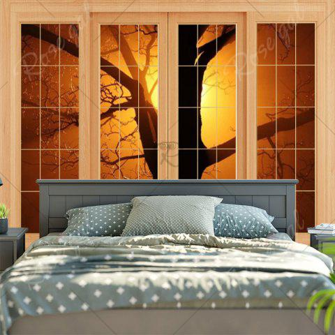 Outfits Wall Hanging Window Tree Printed Tapestry - W59 INCH * L51 INCH YELLOW Mobile