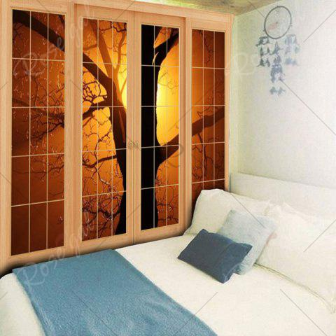 Outfits Wall Hanging Window Tree Printed Tapestry - W59 INCH * L59 INCH YELLOW Mobile