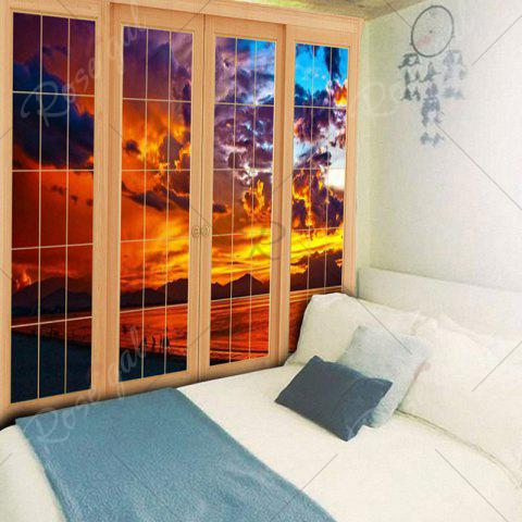 Trendy Window Evening Glow Wall Decor Tapestry - W59 INCH * L51 INCH YELLOW Mobile