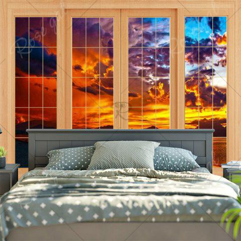 Online Window Evening Glow Wall Decor Tapestry - W79 INCH * L59 INCH YELLOW Mobile