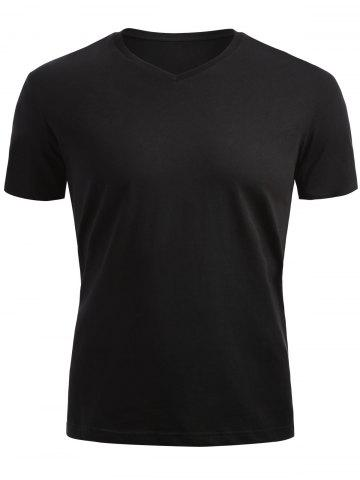 New Short Sleeved V Neck T-shirt