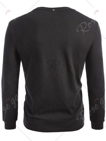 Online Cuffed Long Sleeve T-shirt - M BLACK Mobile
