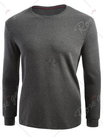 Outfits Cuffed Long Sleeve T-shirt - XL HEATHER GRAY Mobile