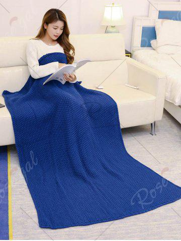 Outfits Handmade Knitted Bedding Sofa Blanket Throw - CADETBLUE 110*160CM Mobile