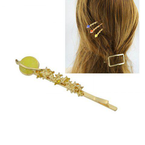 Hot Decoration Star Hairpin YELLOW