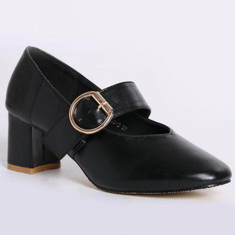 Sale Square Toe Mary Jane Pumps BLACK 37
