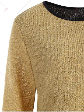 Outfit Plus Size Overlay Drop Waist Knitwear - 5XL EARTHY Mobile