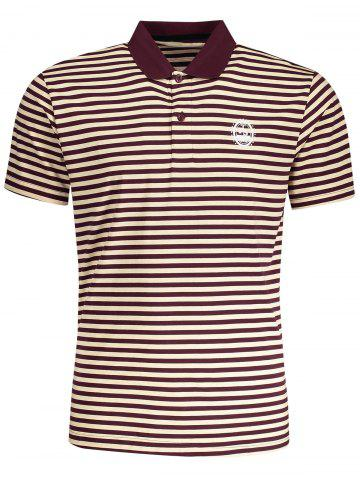 T-shirt Polo à Rayures pour Homme Rayure L