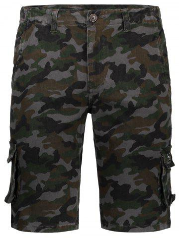 Store Pockets Camo Cargo Shorts - 34 CAMOUFLAGE Mobile