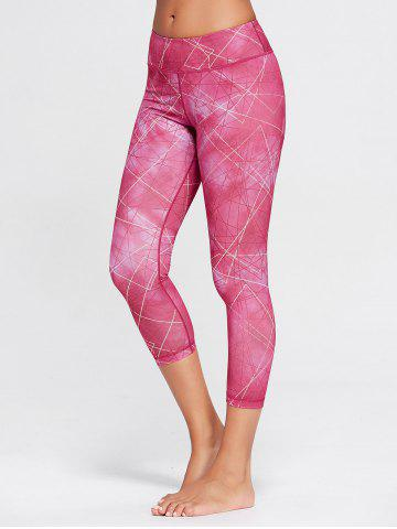 Affordable Capri Printed Workout Tights With Pocket
