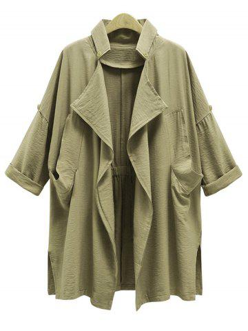 Shops Plus Size Front Drape Trench Coat
