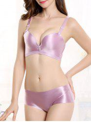 Push Up Seamless Adjustable Strap Bra - LIGHT PURPLE