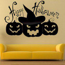 Halloween Pumpkin Shape DIY Wall Stickers