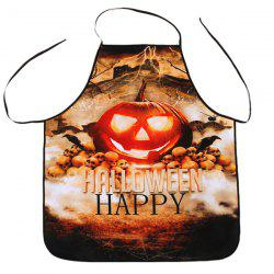 Halloween Pumpkin Print Kitchen Cooking Apron - COLORMIX