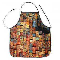 Psychedelic Brick Print Kitchen Product Apron