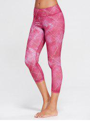 Capri Printed Workout Tights With Pocket - TUTTI FRUTTI