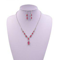 Rhinestone Infinity Necklace and Earrings -