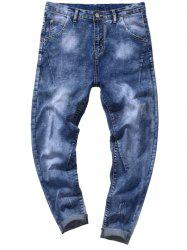 Tie Dyed Zip Fly Tapered Jeans