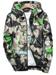 Camouflage Splatter Paint Lightweight Jacket - Vert 4XL