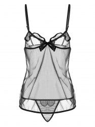 Lingerie Mini Sheer Slip Dress