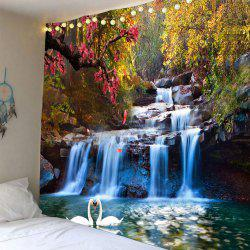 Swans Cascade Trees Waterproof Wall Tapestry -